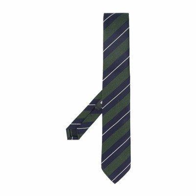 Dsquared2 gemengde wol regiments gestreepte tie