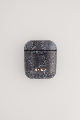NA-KD Accessories NA-KD Accessories Printed AirPod Case - Grey