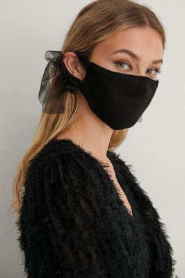 NA-KD Accessories NA-KD Accessories Big Bow Face Mask - Black