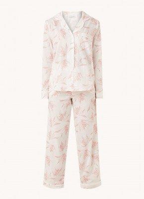 Desmond en Dempsey Desmond & Dempsey Deia pyjamaset met bladprint
