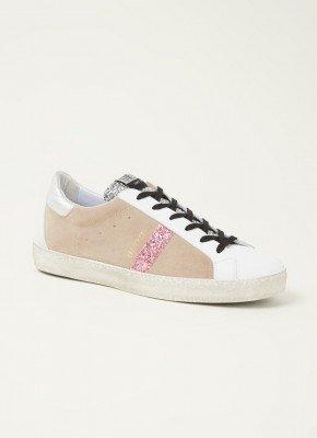 Toral Toral Kurling sneaker van suède met glitter details