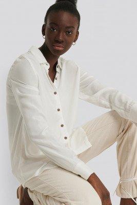 NA-KD Reborn NA-KD Reborn Shirt Met Knopen - White