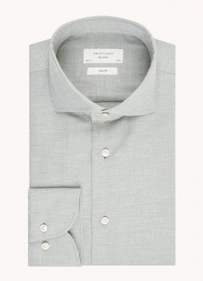Profuomo Profuomo Slim fit overhemd met microdessin