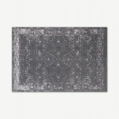 MADE.COM Yolanda Perzisch vloerkleed, 160 x 230 cm, grijsbruin