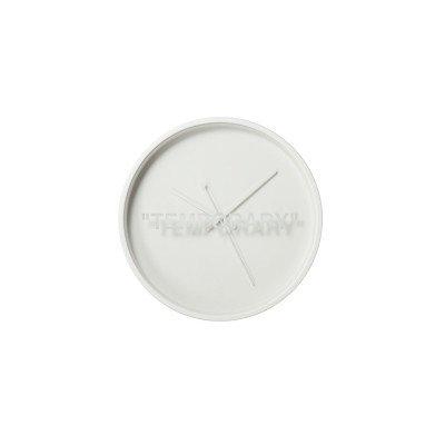 "Off-White Off-White x IKEA ""TEMPORARY"" Wall Clock Markerad Virgil Abloh (2019)"