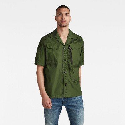 G-Star RAW Utility Poplin Cropped Shirt - Groen - Heren