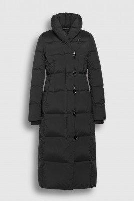 Creenstone Creenstone Long puffer with shawl collar - Black