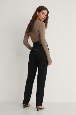 Levis Levi's 501 Crop Jeans - Black