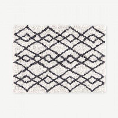 MADE.COM Fes badmat van 100% katoen, groot, 70 x 100cm, mistgrijs
