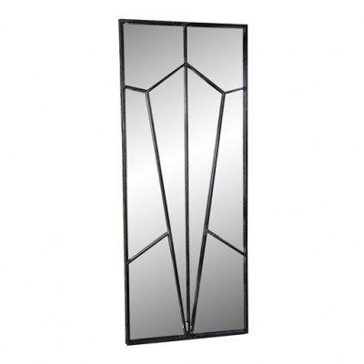 Firawonen.nl PTMD tavish zwart rechthoekige spiegel diamant pat