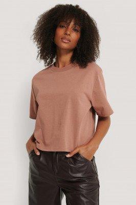 NA-KD Basic Oversized T-Shirt - Pink