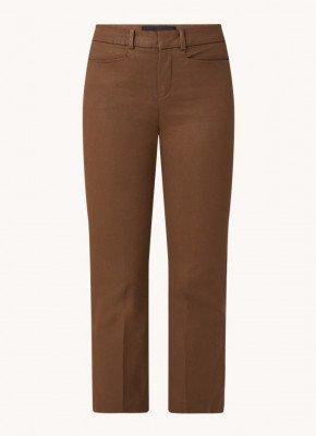 drykorn DRYKORN Basket high waist slim fit cropped pantalon met coating