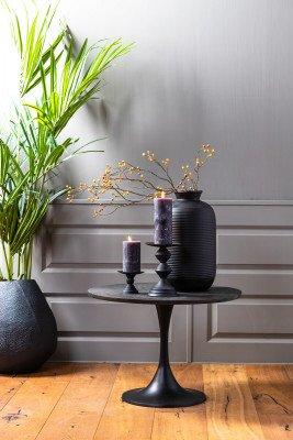 Light & Living Light & Living Bijzettafel 'Rickerd' Ø61cm, kleur Antiek Zwart