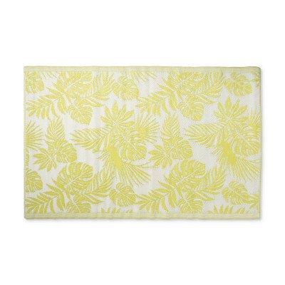 Xenos Buitenkleed leaves - groen/wit - 120x180 cm