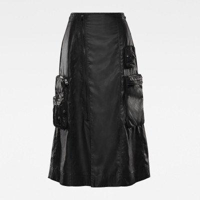 G-Star RAW E Utility 3D Pocket Midi Skirt - Zwart - Dames