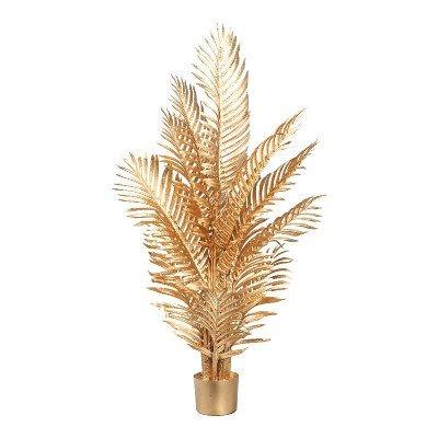 Firawonen.nl PTMD tree areca goud groot palmbladeren in pot