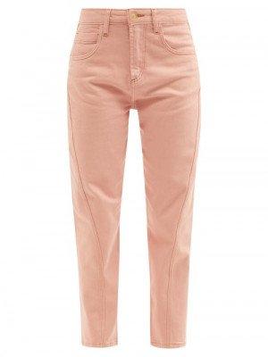 Matchesfashion Ssone - Yarrow High-rise Organic-cotton Jeans - Womens - Pink
