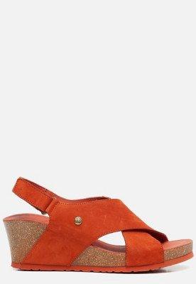 Panama Jack Panama Jack Valeska Basics B5 sandalen met sleehak oranje