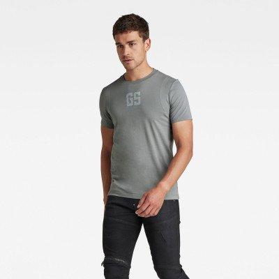 G-Star RAW Stitch & Graphic Slim T-Shirt - Grijs - Heren