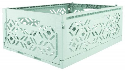 HEMA HEMA Klapkrat Recycled 30x40x15 - Mintgroen