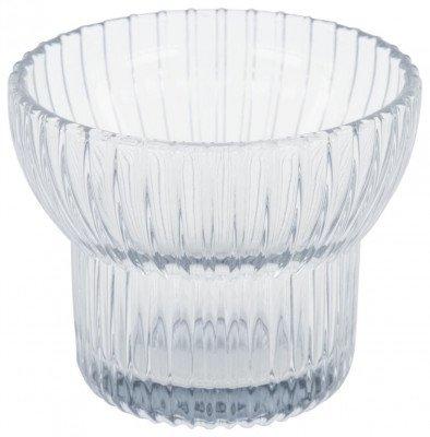 HEMA HEMA Waxinelichthouder Ø8x6.5 - Glas Grijs (grijs)