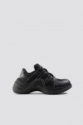 NA-KD Shoes Wave Sole Trainers - Black