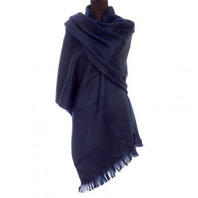EcuaFina Alpaca sjaal of omslagdoek - Marineblauw - EcuaFina - Tip2021