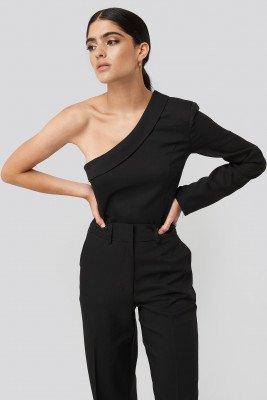 NA-KD Classic NA-KD Classic One Shoulder Shirt - Black