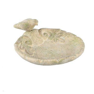 Firawonen.nl Elisa cream cement bowl with birds shell shape l