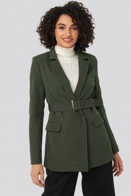 Trendyol Trendyol Belt Detail Blazer - Green