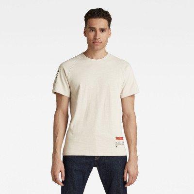 G-Star RAW Pazkor Multi Graphic T-Shirt - Beige - Heren