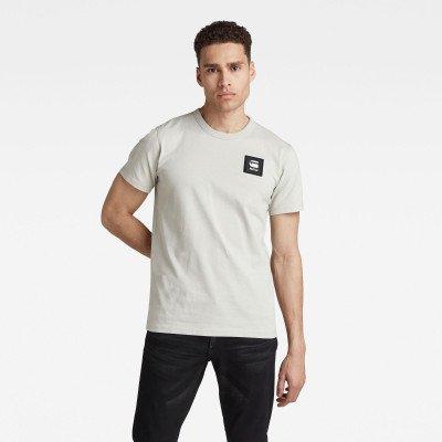 G-Star RAW Badge Logo+ T-Shirt - Lichtblauw - Heren
