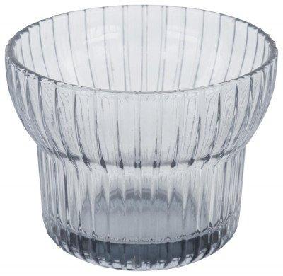 HEMA HEMA Waxinelichthouder Ø10x7.5 - Glas Grijs (grijs)