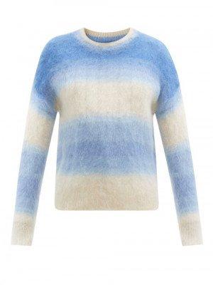 Matchesfashion Isabel Marant Étoile - Drussel Gradient-stripe Mohair-blend Sweater - Womens - Blue Multi