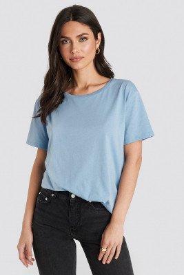 NA-KD Basic Basic Oversized T-Shirt - Blue