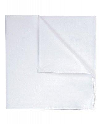 Profuomo Profuomo heren witte royal twill katoenen pochet