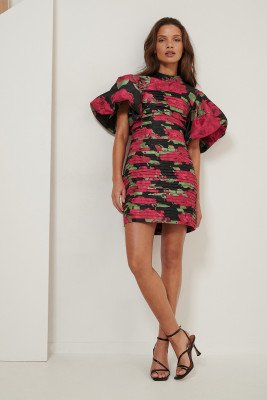 NA-KD ART NA-KD ART Volume Shoulder Mini Dress - Multicolor