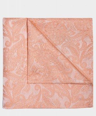 Michaelis Michaelis heren paisley zijden pochet oranje