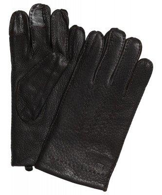 Profuomo Profuomo heren bruine hertenleren handschoenen