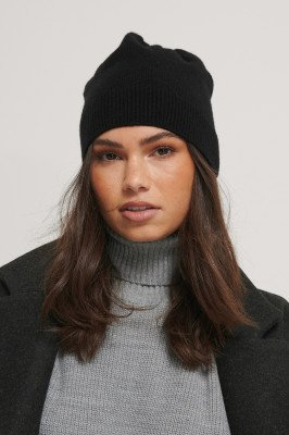 NA-KD Accessories NA-KD Accessories Beanie - Black