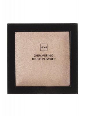 HEMA Shimmering Blush Powder Brilliant Brown (bruin)