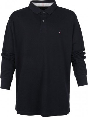 Tommy Hilfiger Tommy Hilfiger Big and Tall Long Sleeve Poloshirt Donkerblauw