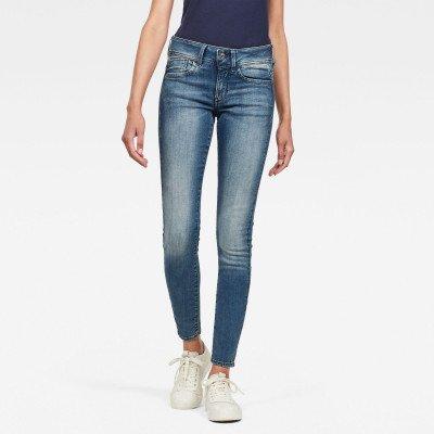 G-Star RAW Lynn Mid Waist Skinny Jeans - Midden blauw - Dames