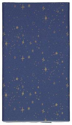 HEMA HEMA Tafelkleed 138x220 Papier Blauw Met Sterren
