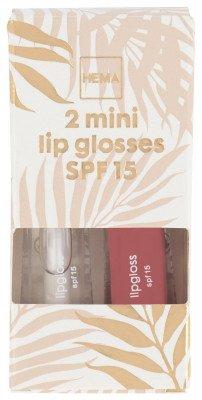 HEMA Mini Lipglosses SPF 15 - 2 Stuks