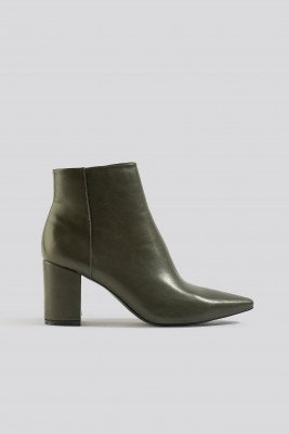 NA-KD Shoes NA-KD Shoes Pointy Toe Ankle Boots - Green