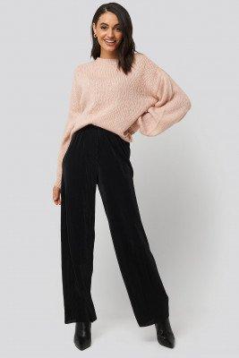 NA-KD NA-KD Wide Pleated Pants - Black