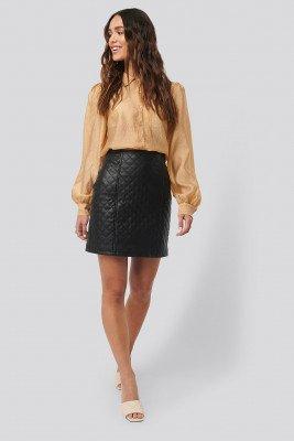 NA-KD NA-KD Quilted PU Skirt - Black