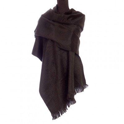 EcuaFina Alpaca sjaal of omslagdoek - Zwart - EcuaFina - Tip2021