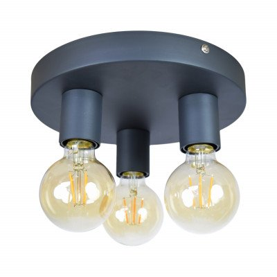 Urban Interiors Urban Interiors plafondlamp 'Triple' Ø25cm, kleur Vintage Black
